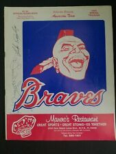 1985 Atlanta Braves Spring Training Scorebook w/Exras  Chief Noc-A-Homa
