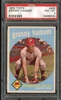 1959 TOPPS #436 GRANNY HAMNER PSA 8 PHILLIES  *K4792