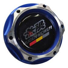 2 Tone Blue Chrome Engine Oil Filler Cap Tank Cover Aluminum Mugen Emblem