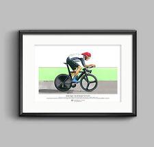 Bradley Wiggins singoli Time Trial, Londra olimpiadi 2012 ARTE POSTER FORMATO A3
