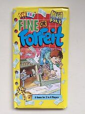 Fun Fax Book Mega Games File FINE OR FORFEIT Money/Toy Shop/Fortune 2-4 Players