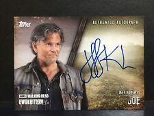 The Walking Dead Evolution Joe / Jeff Kober A-JK Autograph Card Autogramm TOPPS