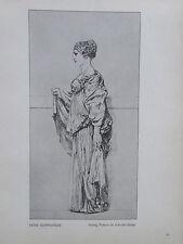 1912 Max Klinger ANTIKE GEWANDSTUDIE alter Druck old print