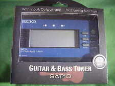 SEIKO~~SAT10LE~~Guitar/Bass tuner~~Pitch Shift~~Reference Tone~~Auto/Manual