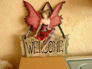 NEMESIS NOW - GOTHIC - FAIRY WALL PLAQUE (WELCOME) RETIRED V.G.C.