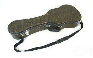 Convenient Golden color patterns with hang belt -Concert ukulele hard case