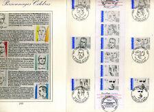 FRANCE Document CERES 1° jour Carnet CELEBRITES 1991, VF FDC CELEBRITIES