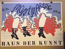PLAKAT FASCHING MÜNCHEN 1972 MONTMARTRE HAUS DER KUNST