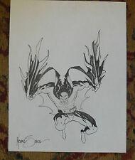 SIGNED MICHAEL MIKE J. ZECK BATMAN ORIGINAL DRAWING