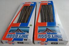 Set à 2 | ROCO LINE H0 42532 *NEU* Weiche links Wl 15 = total 2 Stück