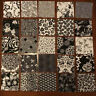 Quilt Squares Of Robert Kaufman Black / White Patterns, NIGHT & DAY