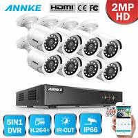 ANNKE 1080P Lite 8CH DVR 8x 2MP CCTV Outdoor Security Camera System Surveillance