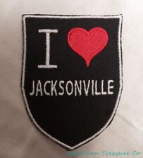 Embroidered Retro Vntge Style I Love Jacksonville FL Florida State Patch Iron On