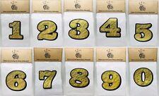 3 Number Decal 0 9 Gold Leaf Vinyl Race Number Motorcycle Sticker Harley Bike