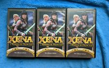 XENA WARRIOR PRINCESS 3 VHS Tape Lot Action Fantasy TV Show Lucy Lawless