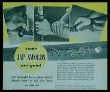 How-To Identify Antique Japanese Nippon-to Swords 1946 Samurai pictorial
