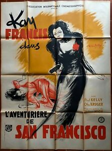 Poster L'Adventurer of San Francisco Allotment Wives Kay Francis Film-Noir