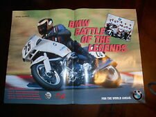 Factory  BMW OEM Battle of the Legends Poster with 1995 Schedule 19 5/8 x 13 3/8