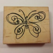 Butterfly Sketch Rubber Stamp c.2001 Elegant Swirls