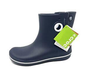 CROCS Jaunt Shorty Rain Boot Waterproof Womens Size 9 EU 39-40 Navy Blue NEW