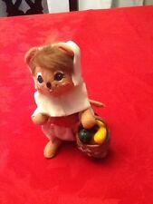 Anna lee mouse girl holding basket of vegetables