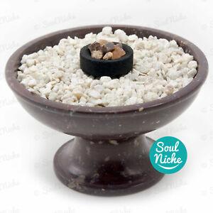Soapstone Charcoal Burner Incense Burner Bowl for Resin Incense Cones +Sand/Rock