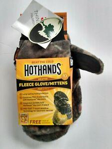 NEW HotHands Heated Glove Mitten Mossy Oak 3M INSULATED M/L