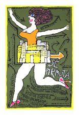 Cuban movie Poster.SE PERMUTA.Moving.art film.Funny graphic design.Home Decor