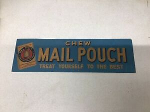Chew Mail Pouch Tobacco Cardboard Sign