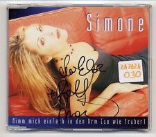 Simone Maxi-CD mit AUTOGRAMM signiert signed - Nimm Mich Einfach In Den Arm