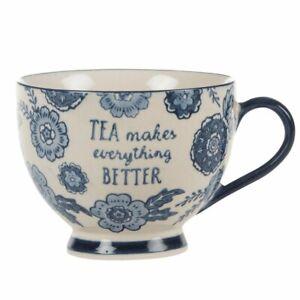Sass & Belle Blue Willow Floral Mug