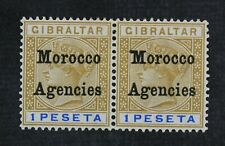 CKStamps: Great Britain in in Morocco Stamps Collection Scott#18 18a Mint H OG