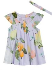 Ted Baker - 'Baby girls' lilac rose print jersey dress BNWT