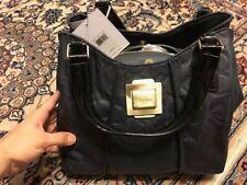 Calvin Klein leather CK navy blue women parker bag purse 3605 1928 472 authentic