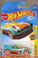 2018 Hot Wheels #301 HW Art Cars 1/10 FAST FISH Turquoise w/Orange Whl White 5Sp