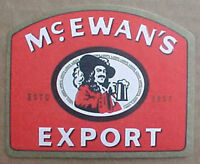 McEWAN'S EXPORT foreign Beer COASTER, Mat with Man, SCOTLAND, United Kingdom
