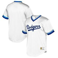 Los Angeles Dodgers Mitchell & Ness White Cooperstown Jersey Men's Large