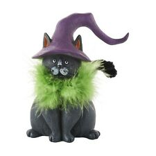 4052615 Lucifer The Cat Witches Pet Halloween Table Distressed Decoration