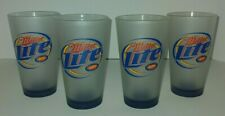 Set of 4 Miller Light Pro Football Hall Of Fame Class Of 2004 Beer Glasses