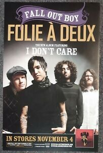 Fall Out Boy Folie a Deux 2008 DOUBLE-SIDED PROMO POSTER