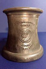 1935 Royal Jubilee Queen Elizabeth King George V English Pewter Mug Spelman Mark