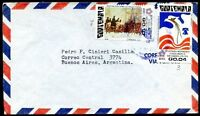 GUATEMALA TO ARGENTINA Modern Air Mail Cover