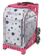 Zuca Confetti Sport Insert Bag and Pink Frame with Flashing Wheels