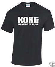 """Korg Masters of music"" T-shirt Taille S/M/L/XL/XXL Synth/Percussion/Piano"