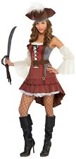 Castaway Pirate Womens Adult Buccaneer Halloween Costume