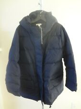 Eileen Fisher  Down Puffer Coat Midnight M/M NWT