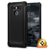 Spigen® For LG G6 [Rugged Armor Extra] Slim Shockproof Protective TPU Case Cover