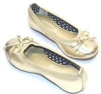 Sperry YG54341 Elise Champagne Girls Flat Ballet Slip-On Top-Sider Shoes in 10 M