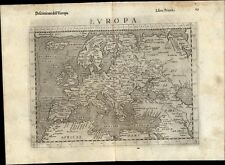 Europe continent 1599 Ruscelli Rosaccio antique map Iceland Arabia Asia minor