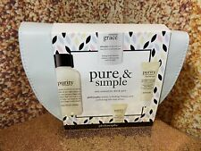 PHILOSOPHY PURITY MADE SIMPLE TRAVEL KIT SKINCARE FACIAL CLEANSER MOISTURIZER